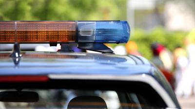 generic police lightbar day