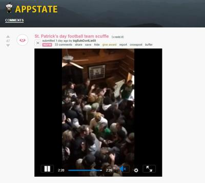 Reddit Appalachian State fight video screengrab