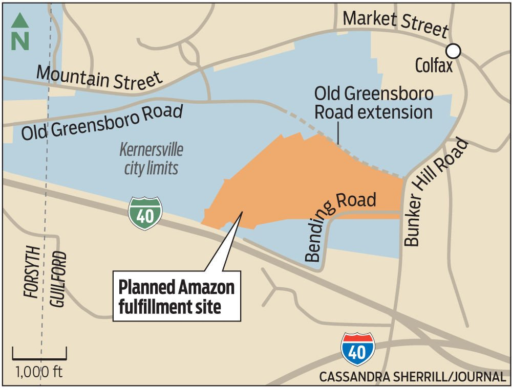 Amazon confirms plans for Kernersville fulfillment center