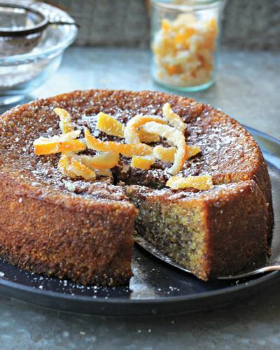 Lemon Almond Polenta Cake