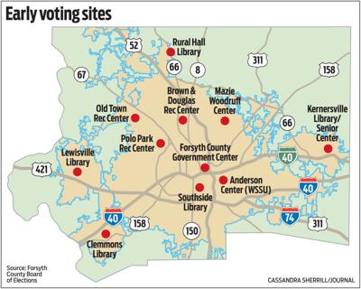 MAP: Early voting sites