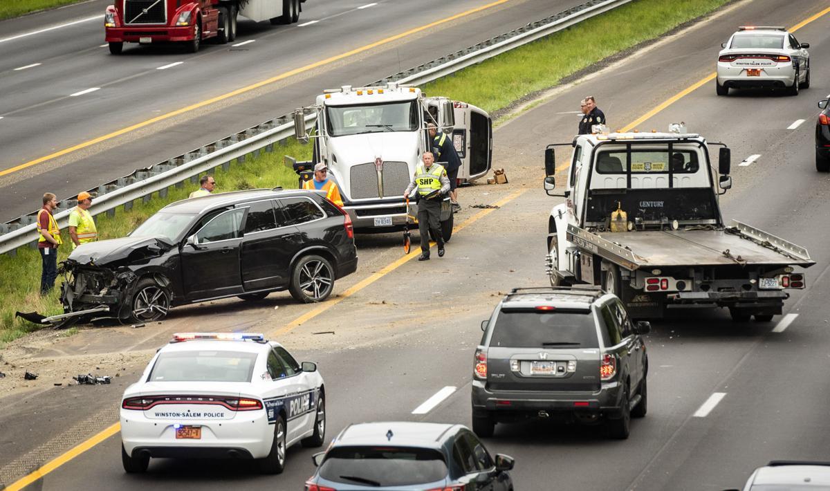 Lane reopens after SUVs crash on I-40 east in Winston-Salem
