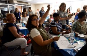 First day back: Business mixed with pleasure for Winston-Salem teachers
