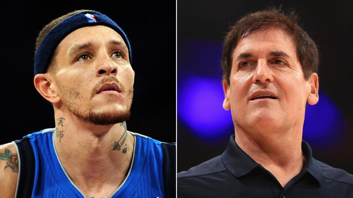 Delonte West and Mark Cuban