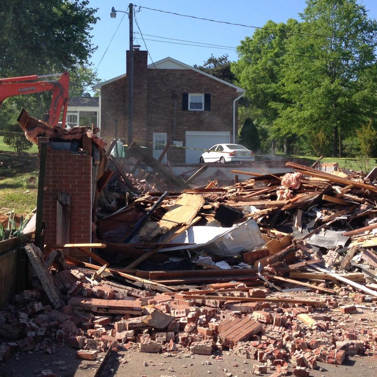 Clemmons house where human remains found is demolished | Local News