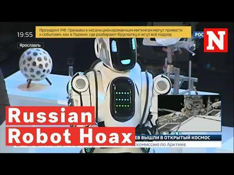 'High-tech' robot on Russian TV was man in suit, report says