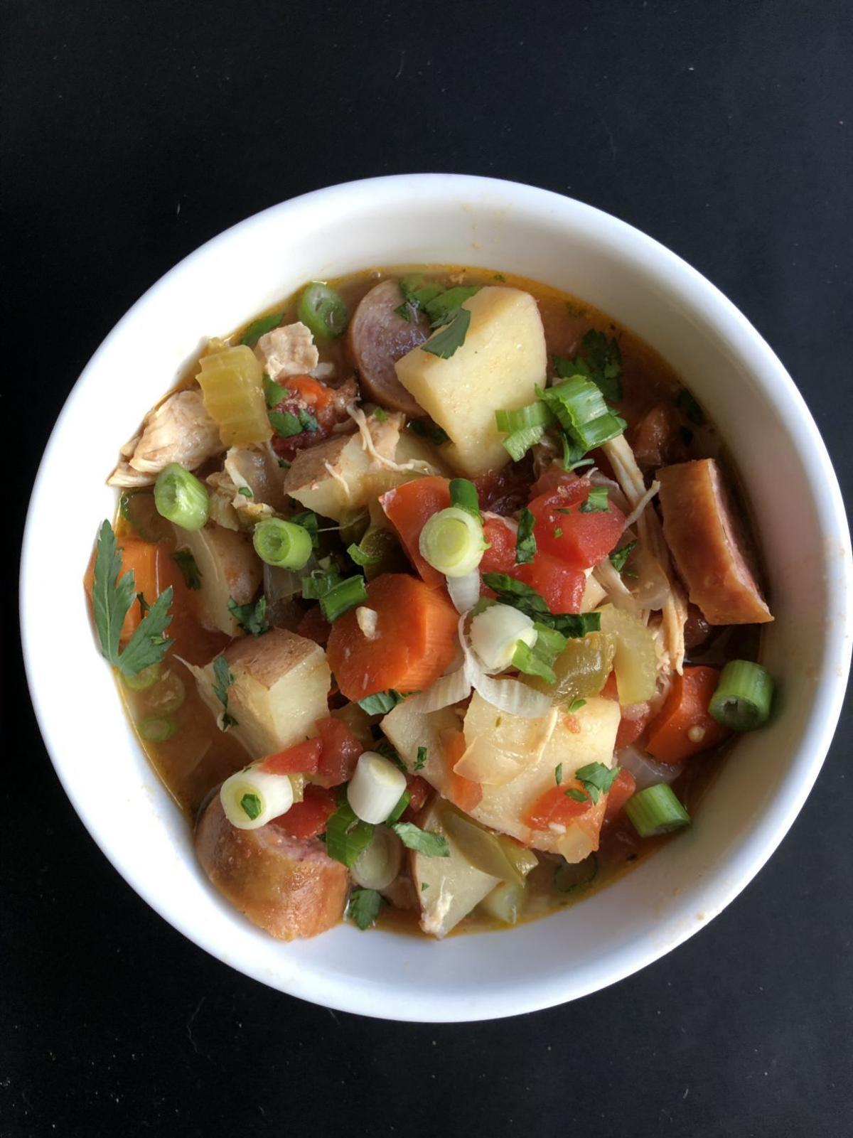 Slow Cooker Cajun Chicken Stew
