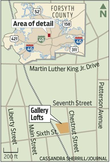 Gallery Lofts map