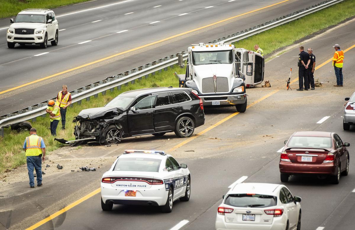 Lane reopens after SUVs crash on I-40 east in Winston-Salem | Local