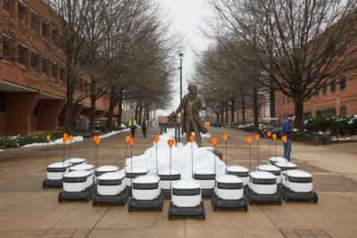 George Mason University students have a new dining option: Food delivered by robots