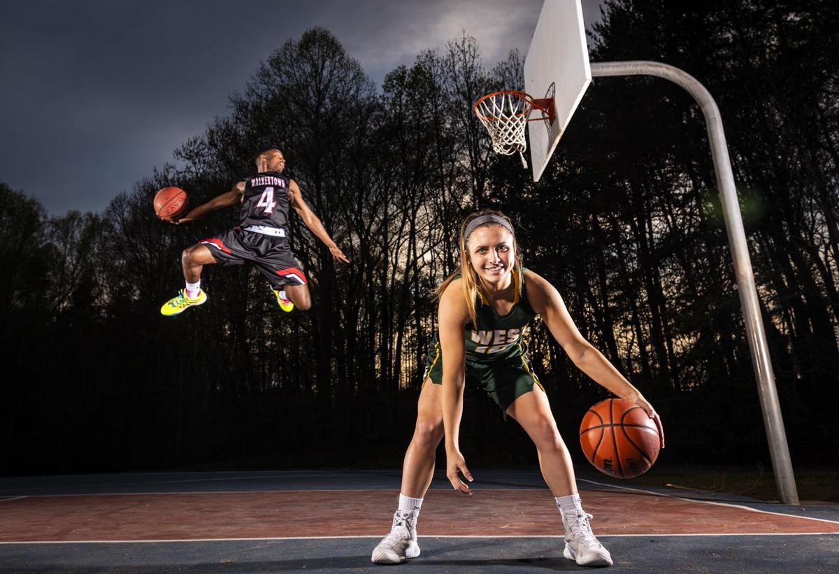 dc6115e2d19b Walkertown s Jalen Cone and West Forsyth s Callie Scheier. Cone is the  winner of the Winston-Salem Journal s Frank Spencer Award for the top boys  player in ...
