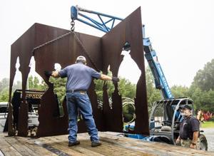 Greensboro sculptor Jim Gallucci turned mangled 9/11 steel into art