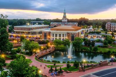 High Point University aerial