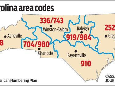 New Area Code In Triad Will Be Required To Dial Starting On - Area code 919 usa