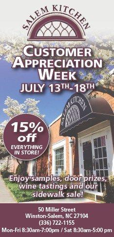 Sale! Customer Appreciation Week @ Salem Kitchen | Calendar ...