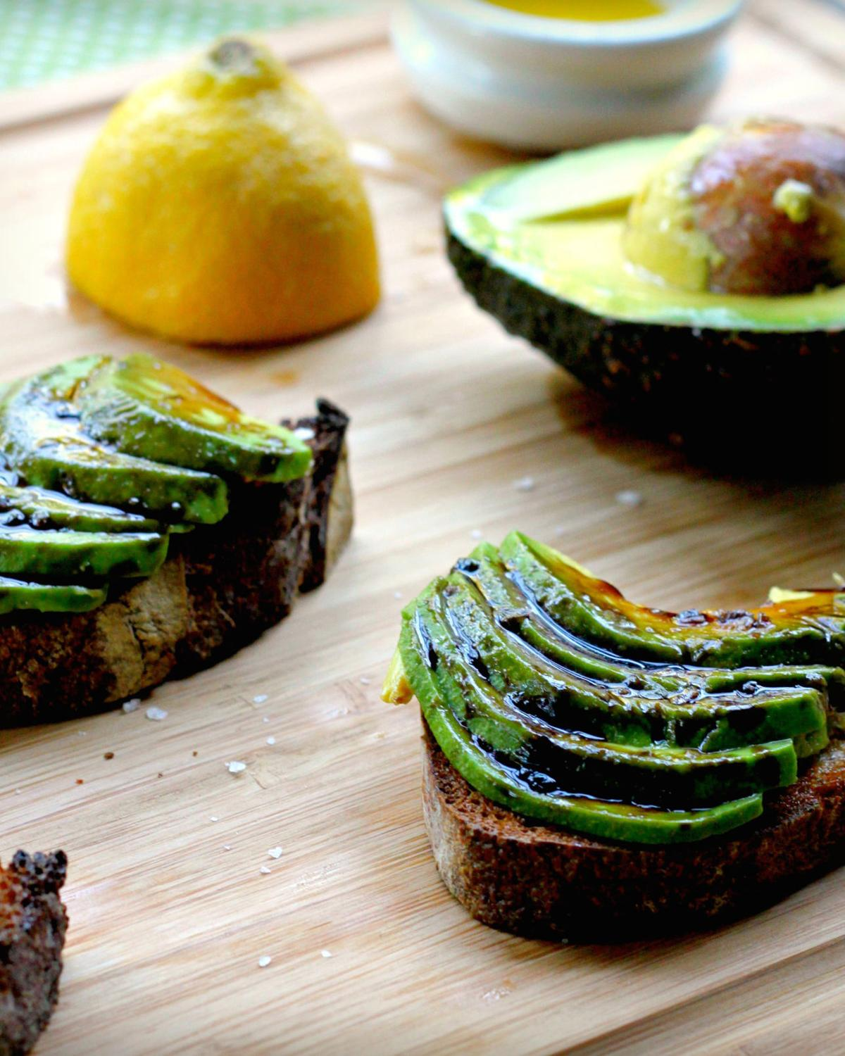 Avocado Toast With Balsamic Reduction