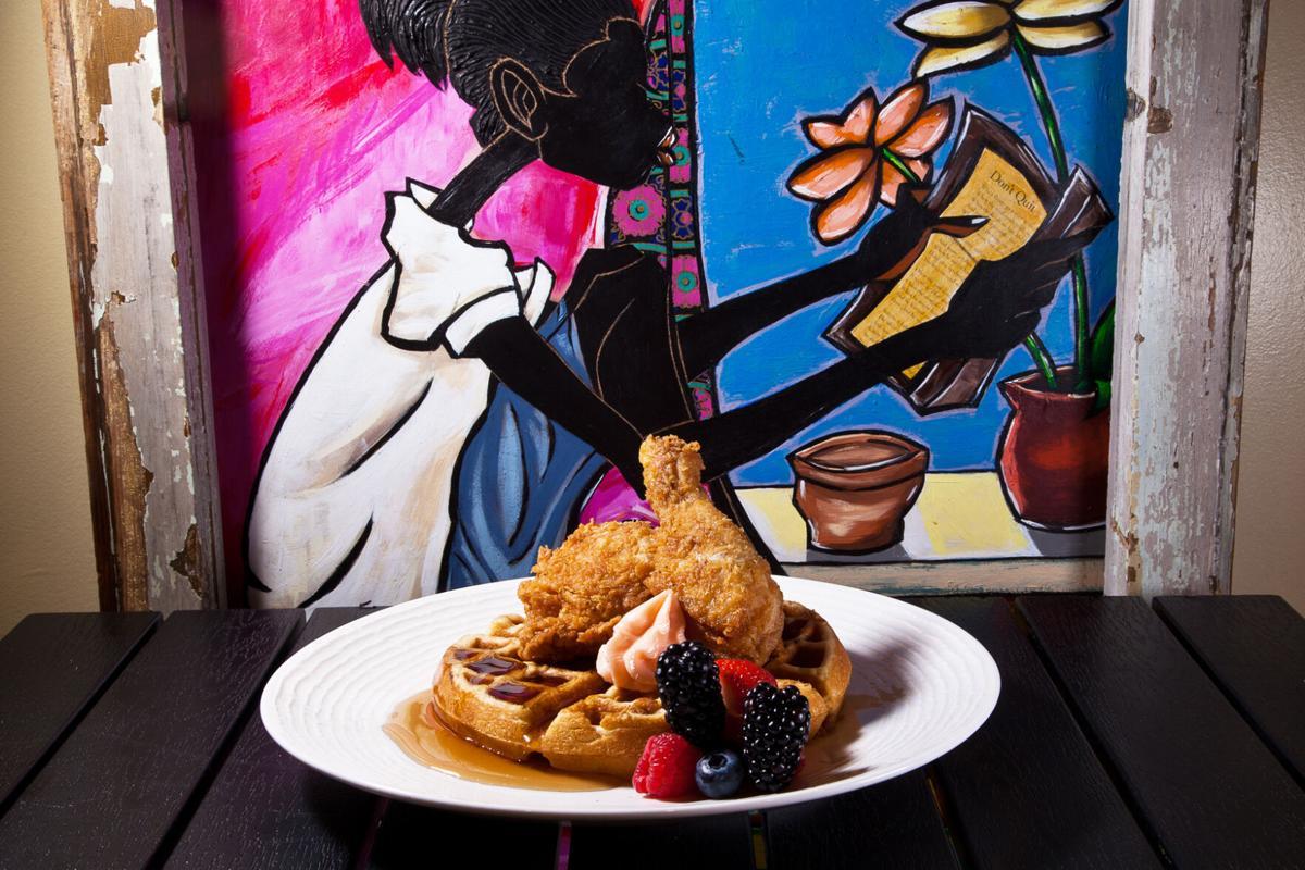 Throwdown chicken and eggnog waffles