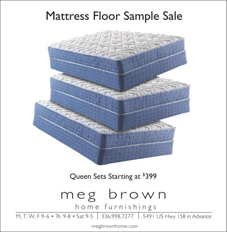 Download PDF Meg Brown Mattress Sample Sale
