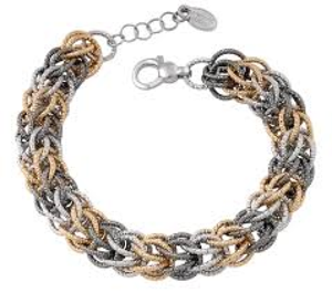 Tri-color Basket Weave Bracelet by Frederic Duclos