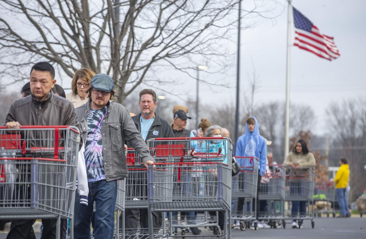 Long lines outside Costco Warehouse (copy)