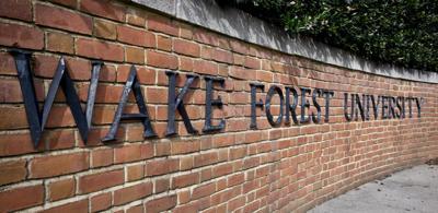 Wake Forest University sign