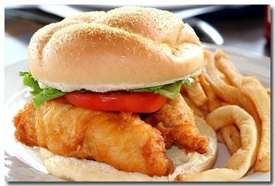 Forsyth seafood market cafe seafood restaurant fish for Good fish sandwich near me