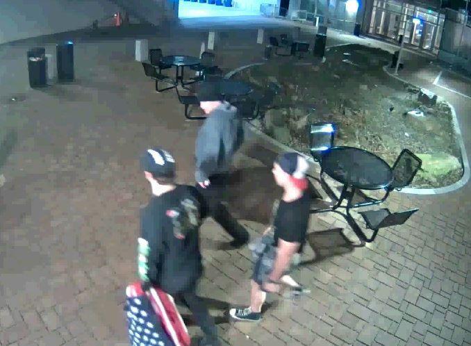 Stolen flag video image