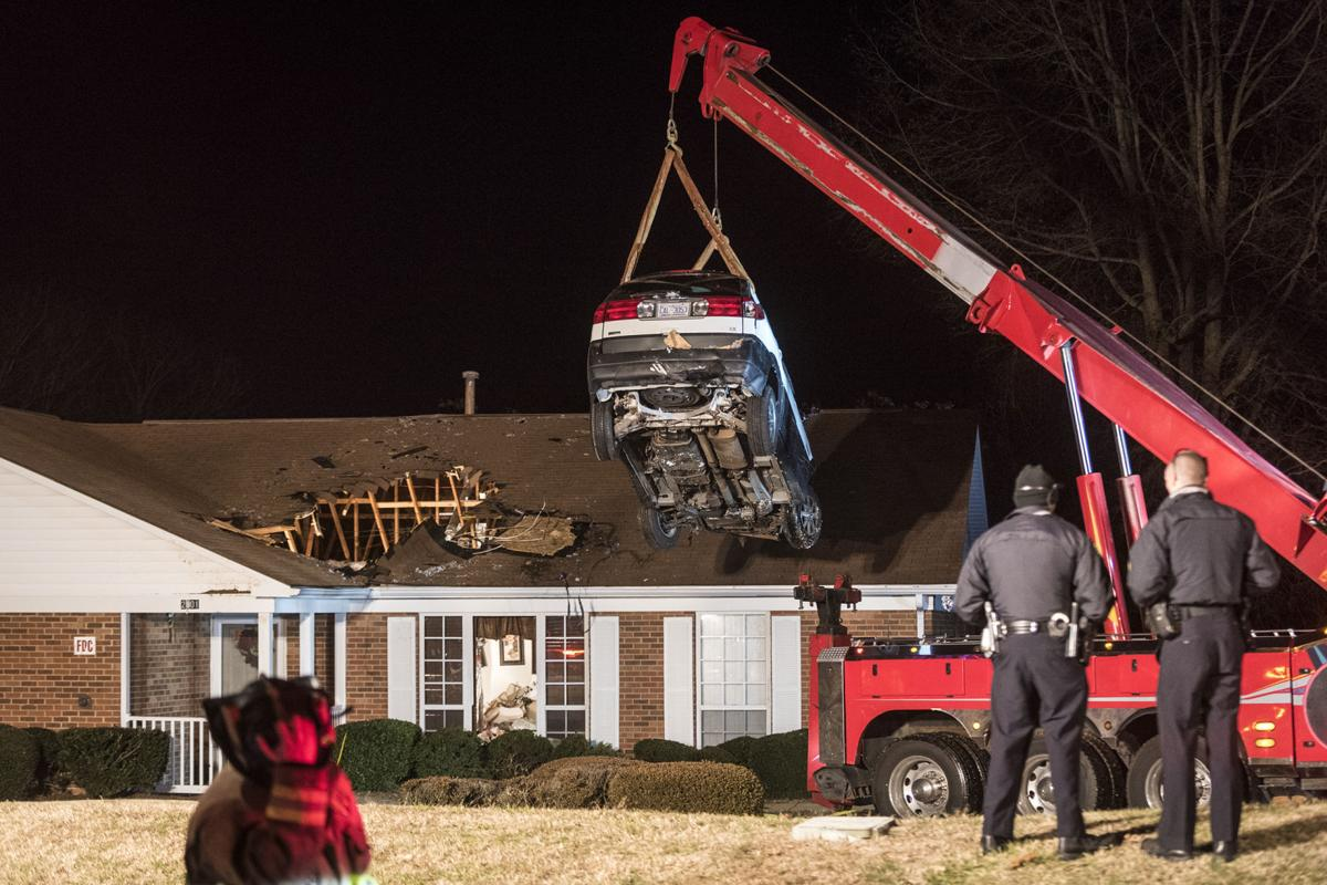 Suv Ends Up In House After Driver Loses Control Of Her Vehicle