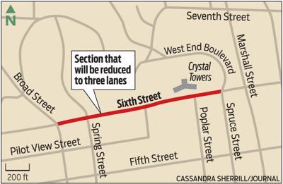 MAP: Sixth Street road diet
