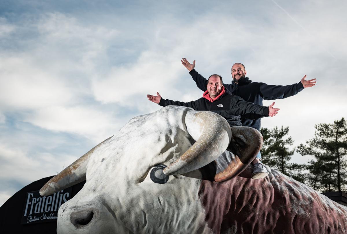 Bull Statue at Fratellis Itatlian Steakhouse