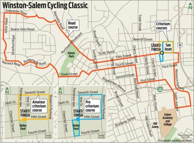 Where will the cyclists be racing?