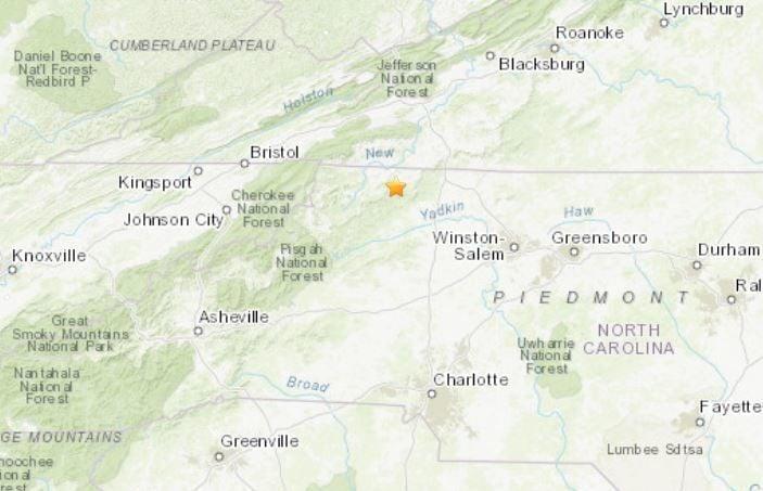 NC earthquake