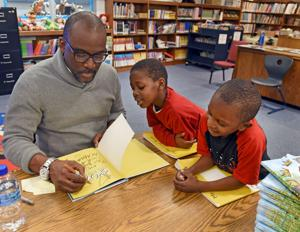 Author visits Middle Fork Academy, talks to kids about new book