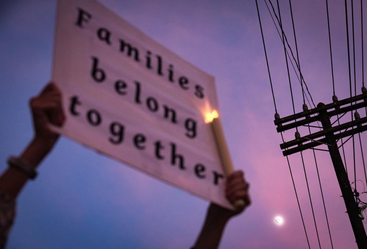 Winston-Salem's Lights for Liberty Vigil for Migrants