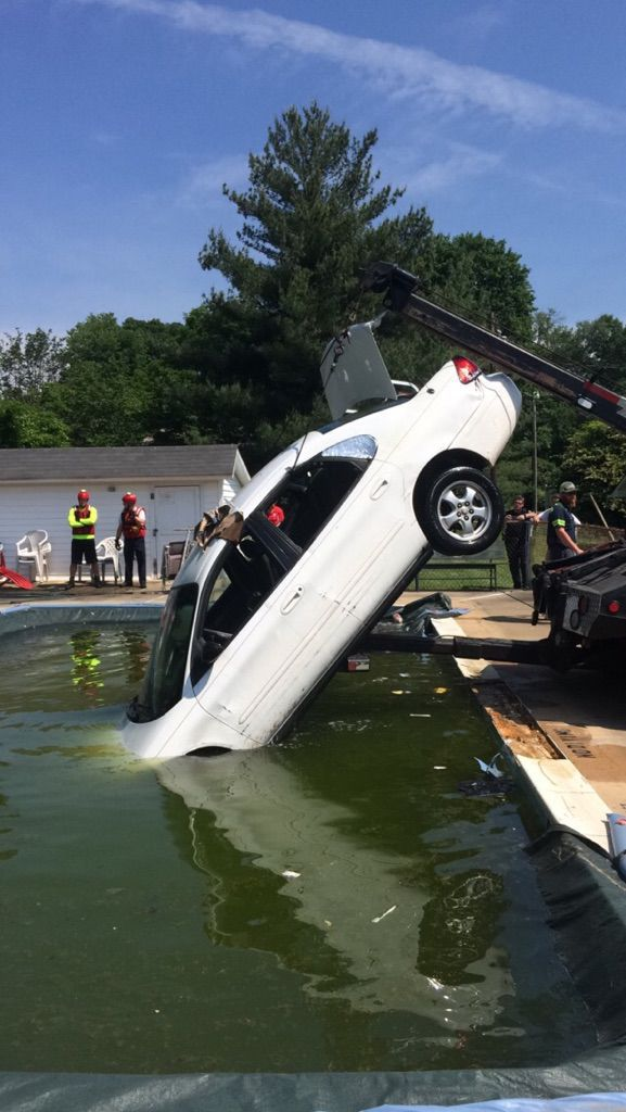 Owner charged with leaving scene after car went into pool   Local ...