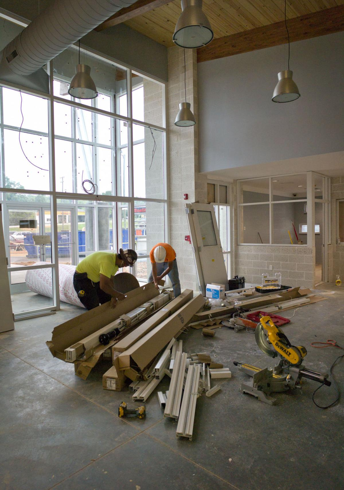 Rolfe House Foyer : New home for forsyth humane shelter under construction