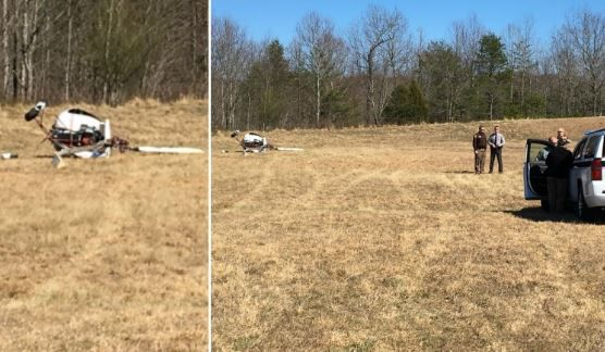 Helicopter crash in Surry County