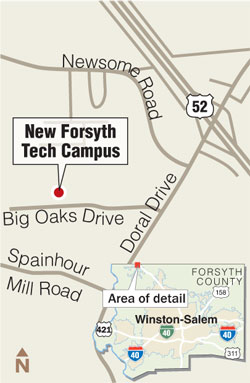 Forsyth Tech Main Campus Map.Forsyth Tech S King Campus Nearly Done Local News Journalnow Com