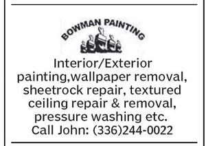 Call Bowman Painting Today!