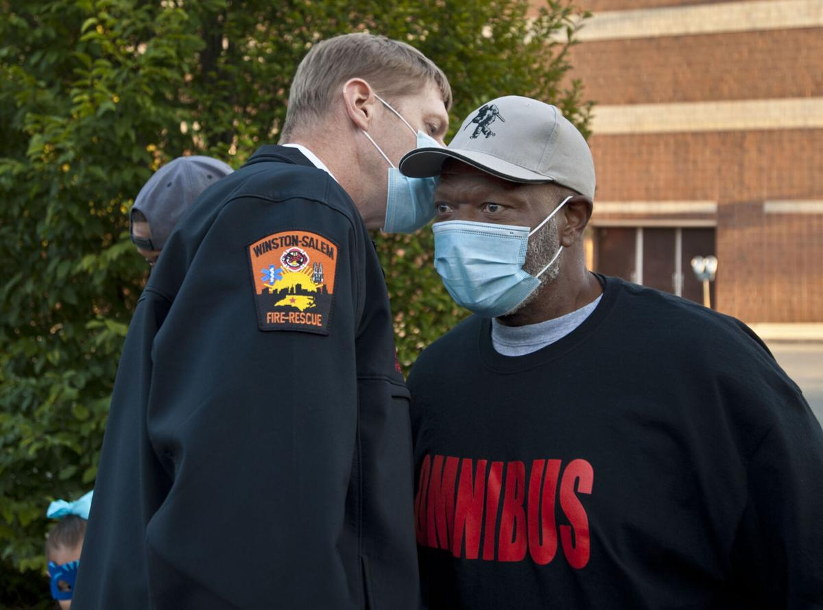 Omnibus black firefighter press conference