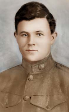 OSCAR C. RHOADES of Wilkes County fought in WWI.