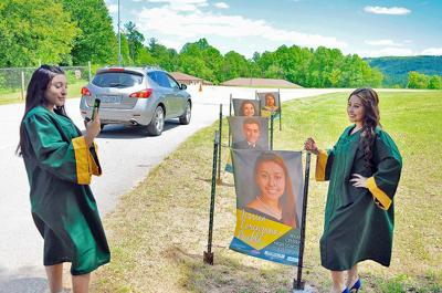 Wilkes Central students in cap and gown