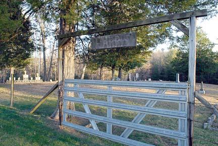 Gate to Harris Cemetery
