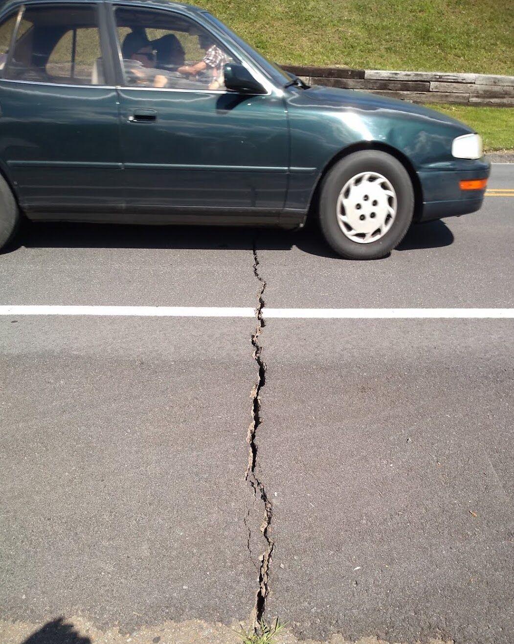 Fractured asphalt