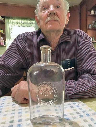 Pete Bishop with bottle