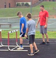 Hurdles practice