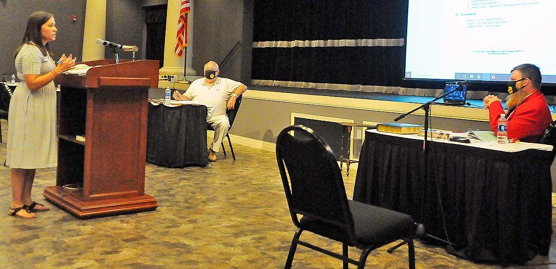 Willard at board meeting