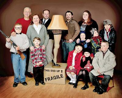 a christmas story cast includes left to right front row daniel hilton ralphie parker camden barlow randy parker olive keener esther jane - A Christmas Story Pictures