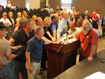 Testifying at hearing
