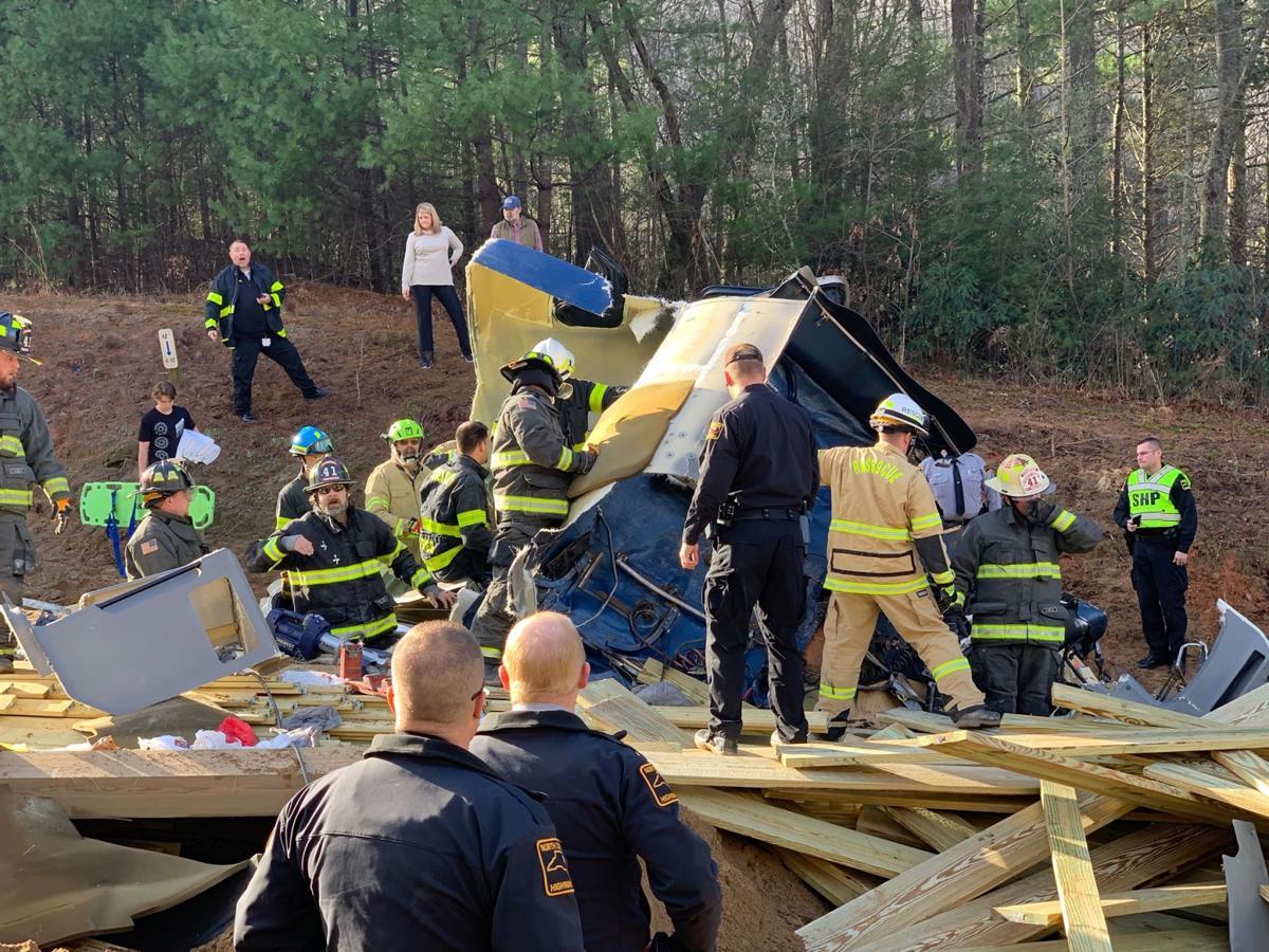 Wreck in U.S. 421 sandpile